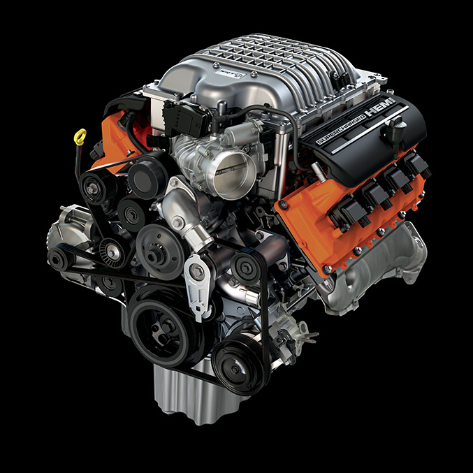 The Jeep Grand Cherokee Trackhawk Engine